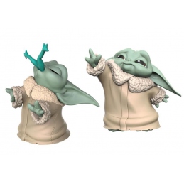 STAR WARS THE MANDALORIAN - THE CHILD BABY YODA FROGGY SNACK AND FORCE MOMENT 2-PACK ACTION FIGURE HASBRO