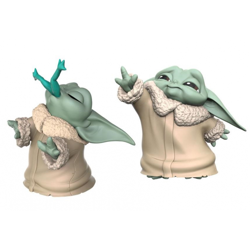 HASBRO STAR WARS THE MANDALORIAN - THE CHILD BABY YODA FROGGY SNACK AND FORCE MOMENT 2-PACK ACTION FIGURE