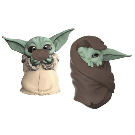 STAR WARS THE MANDALORIAN - THE CHILD BABY YODA SIPPING SOUP AND BLANKET 2-PACK ACTION FIGURE