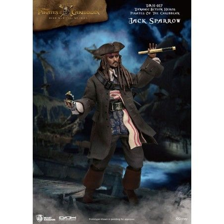 PIRATES OF THE CARIBBEAN DYNAMIC 1/9 JACK SPARROW 20CM ACTION FIGURE