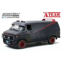 A-TEAM - GMC VANDURA WEATHERED VERSION WITH BULLET HOLES 1/18 DIECAST MODEL FIGURE GREEN LIGHT COLLECTIBLES