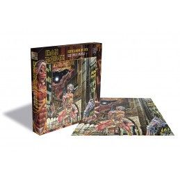 ZEE PRODUCTIONS IRON MAIDEN SOMEWHERE IN TIME 500 PIECES PEZZI JIGSAW PUZZLE 39X39 CM