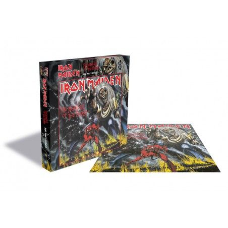 IRON MAIDEN THE NUMBER OF THE BEAST 500 PIECES PEZZI JIGSAW PUZZLE 39X39 CM