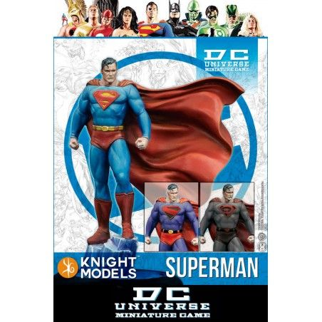 DC UNIVERSE MINIATURE GAME - SUPERMAN MINI RESIN STATUE FIGURE