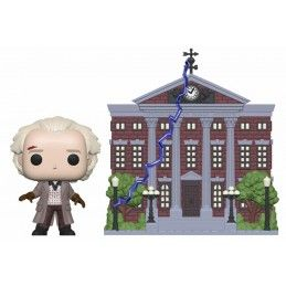 FUNKO POP! BACK TO THE FUTURE - DOC WITH CLOCK TOWER BOBBLE HEAD KNOCKER FIGURE FUNKO
