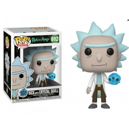 FUNKO POP! RICK AND MORTY - RICK WITH CRYSTAL SKULL BOBBLE HEAD KNOCKER FIGURE FUNKO