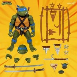 TMNT TEENAGE MUTANT NINJA TURTLES ULTIMATES LEONARDO ACTION FIGURE SUPER7