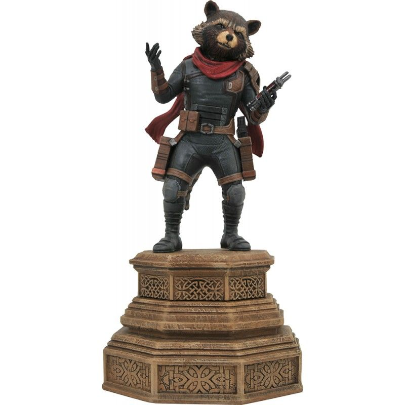 AVENGERS ENDGAME - ROCKET RACOON GALLERY 18CM FIGURE STATUE DIAMOND SELECT