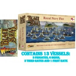 BLACK SEAS - ROYAL NAVY FLEET SET MINIATURES WARLORD GAMES
