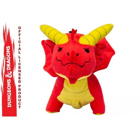 DUNGEONS AND DRAGONS RED DRAGON PLUSH DICE POUCH FIGURE PELUCHE PORTADADI