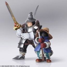 FINAL FANTASY IX BRING ARTS VIVI ORNITIER AND ADELBERT STEINER ACTION FIGURES SQUARE ENIX