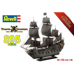 PIRATES OF THE CARIBBEAN 5 BLACK PEARL LTD ED 1/72 MODEL KIT 50CM FIGURE REVELL