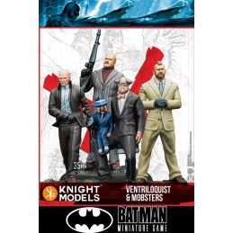 KNIGHT MODELS BATMAN MINIATURE GAME - VENTRILOQUIST AND MOBSTERS MINI RESIN STATUE FIGURE