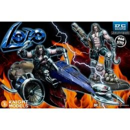 DC UNIVERSE MINIATURE GAME - LOBO AND LOBO ON BIKE MINI RESIN STATUE FIGURE KNIGHT MODELS