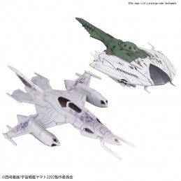 BANDAI YAMATO 2202 MECHA COLLECTION CZVARKE AND DEVAST SET 1/1000 MODEL KIT FIGURE