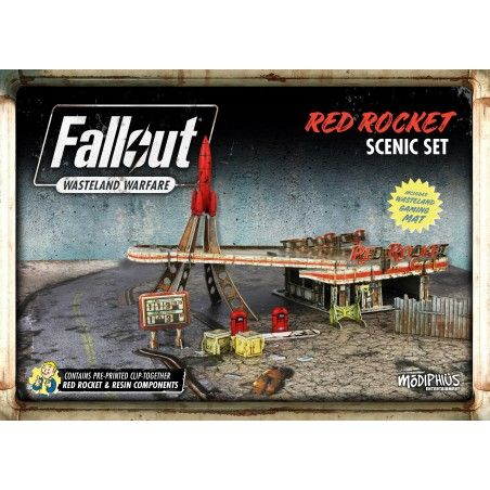 FALLOUT WASTELAND WARFARE - RED ROCKET SCENIC SET ROLEPLAYING GIOCO DI RUOLO
