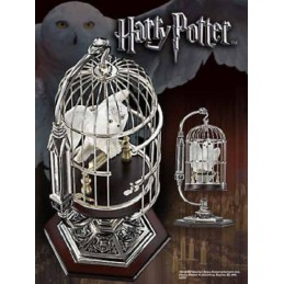 HARRY POTTER HEDWIG IN CAGE MINIATURE FIGURE REPLICA NOBLE COLLECTIONS