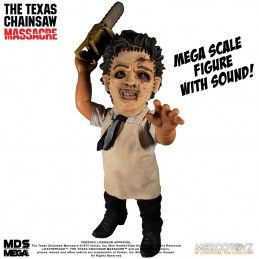 MDS MEGA SCALE TALKING LEATHERFACE ACTION FIGURE MEZCO TOYS