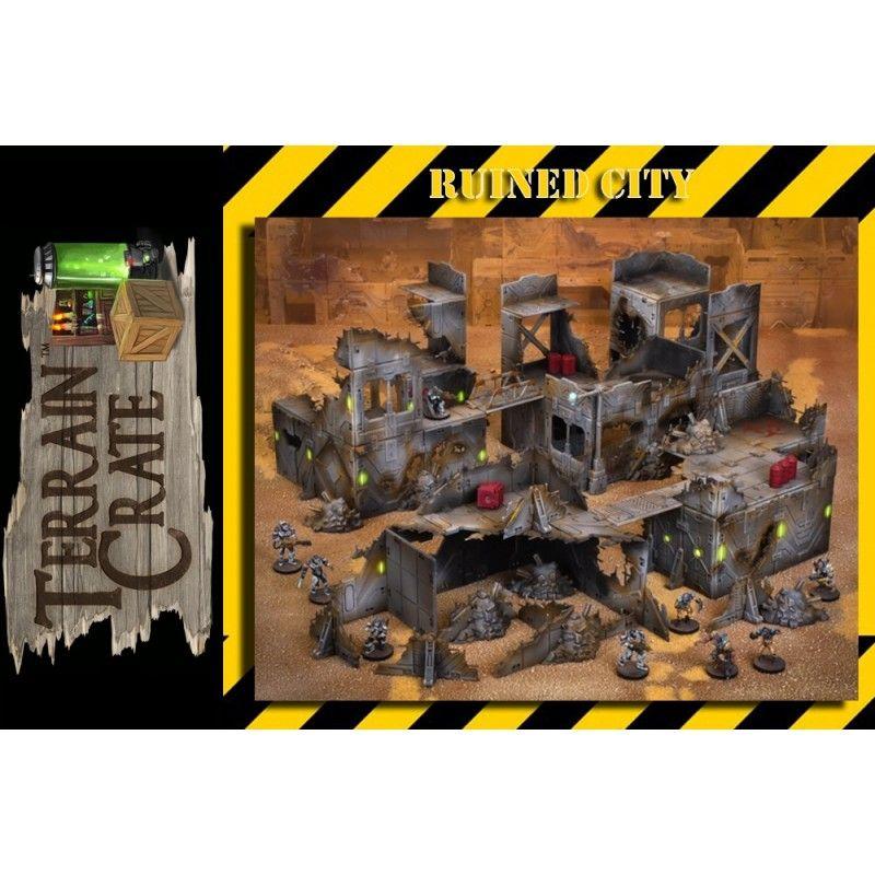 TERRAIN CRATE - RUINED CITY SET MODEL KIT DIORAMA MANTIC