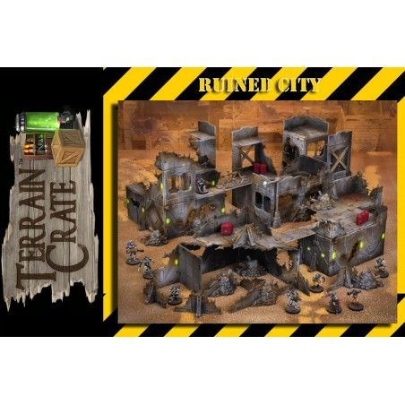 TERRAIN CRATE - RUINED CITY SET MODEL KIT DIORAMA