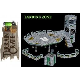 TERRAIN CRATE - LANDING ZONE SET DIORAMA MINIATURES MANTIC