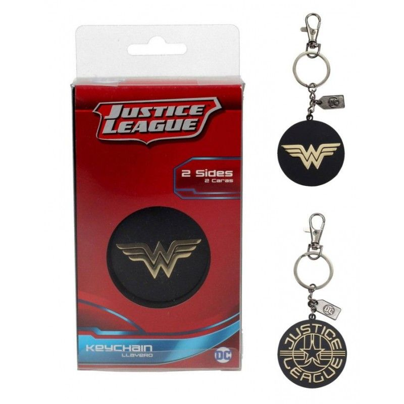 SD TOYS JUSTICE LEAGUE - WONDER WOMAN METAL KEYCHAIN PORTACHIAVI