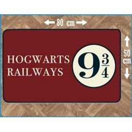 HARRY POTTER HOGWARTS RAILWAYS 9 3/4 INDOOR MAT TAPPETO INTERNO 80X50CM LEGEND