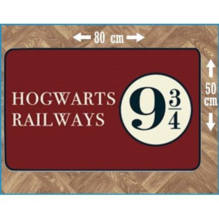 HARRY POTTER HOGWARTS RAILWAYS 9 3/4 INDOOR MAT TAPPETO INTERNO 80X50CM