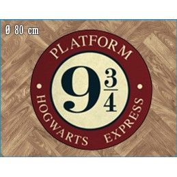 LEGEND HARRY POTTER PLATFORM 9 3/4 ROUND INDOOR MAT TAPPETO INTERNO 80CM