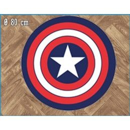 MARVEL CAPTAIN AMERICA ROUND INDOOR MAT TAPPETO INTERNO 80CM LEGEND