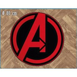 MARVEL AVENGERS ROUND INDOOR MAT TAPPETO INTERNO 80CM LEGEND