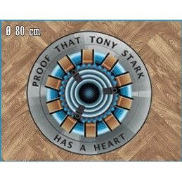 MARVEL IRON MAN PROOF ROUND INDOOR MAT TAPPETO INTERNO 80CM LEGEND