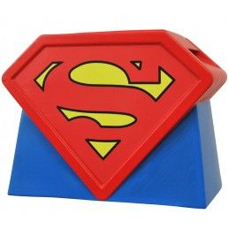 SUPERMAN ANIM LOGO COOKIE JAR BISCOTTIERA SUPERMAN