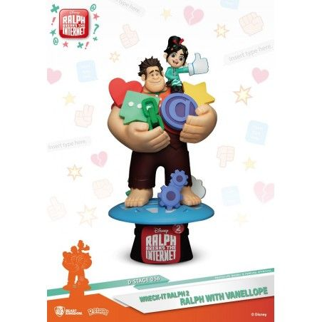 D-STAGE WRECK IT RALPH 2 RALPH AND VANELLOPE 056 STATUE FIGURE DIORAMA