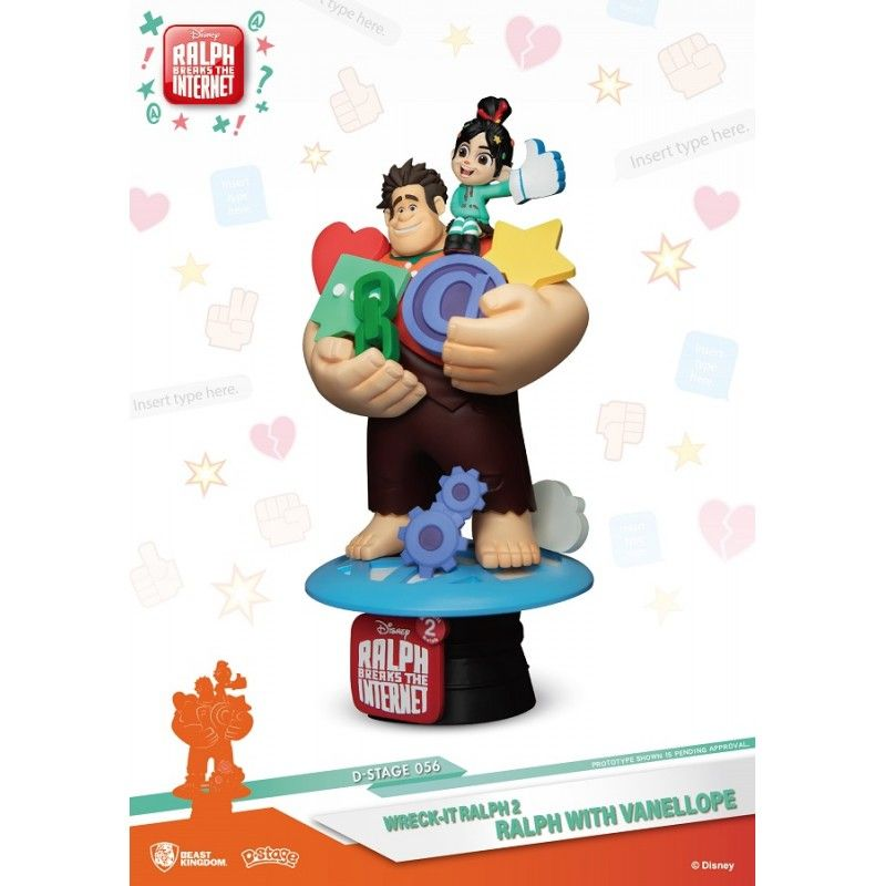 BEAST KINGDOM D-STAGE WRECK IT RALPH 2 RALPH AND VANELLOPE 056 STATUE FIGURE DIORAMA