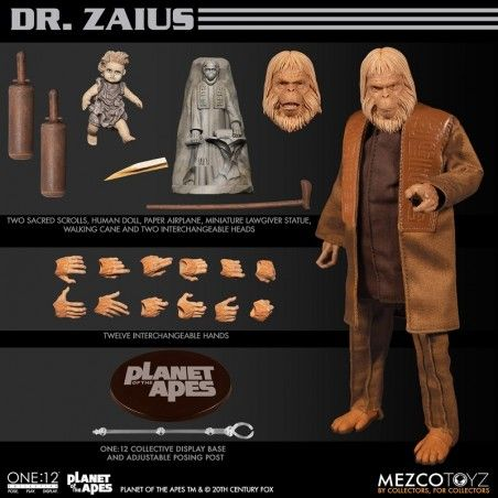 ONE 12 COLLECTIVE PLANET APES DR ZAIUS 1968 ACTION FIGURE