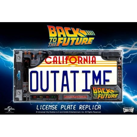 BACK TO THE FUTURE - OUTATIME LICENSE PLATE LEGACY COLLECTION TARGA REPLICA