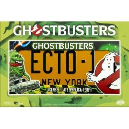 GHOSTBUSTERS - ECTO-1 LICENSE PLATE LEGACY COLLECTION TARGA REPLICA DOCTOR COLLECTOR