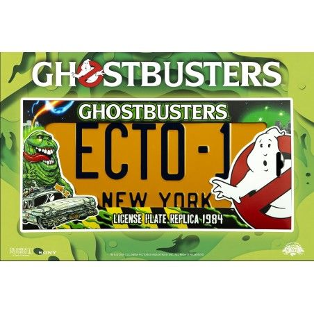 GHOSTBUSTERS - ECTO-1 LICENSE PLATE LEGACY COLLECTION TARGA REPLICA