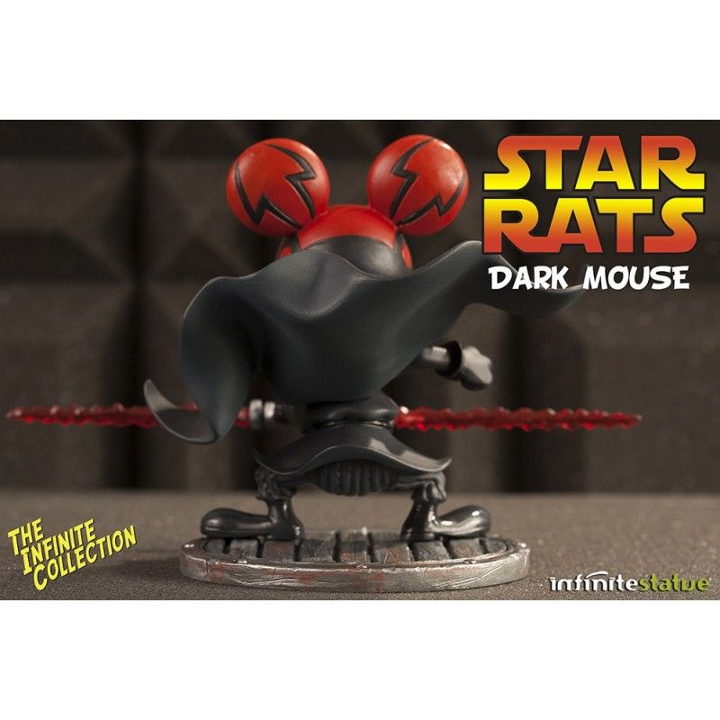 RAT-MAN STAR RATS DARK MOUSE COLLECTION N.4 STATUE LEO ORTOLANI INFINITE STATUE