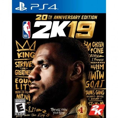 NBA 2K19 20TH ANNIVERSARY EDITION PS4 PLAYSTATION 4 USATO ITALIANO