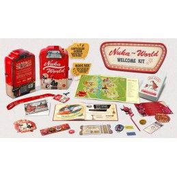 DOCTOR COLLECTOR FALLOUT NUKA WORLD WELCOME KIT SET DA COLLEZIONE