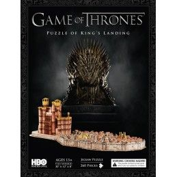 4D CITYSCAPE GAME OF THRONES IL TRONO DI SPADE KINGS LANDING 3D PUZZLE 76X31X20CM