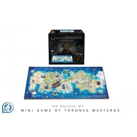 GAME OF THRONES IL TRONO DI SPADE WESTEROS 4D MINI PUZZLE 25x20CM