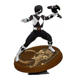 MIGHTY MORPHIN POWER RANGERS - BLACK RANGER 23CM STATUE FIGURE POP CULTURE SHOCK COLLECTIBLES