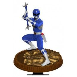 POP CULTURE SHOCK COLLECTIBLES MIGHTY MORPHIN POWER RANGERS - BLUE RANGER 23CM STATUE FIGURE