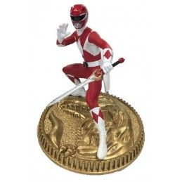 MIGHTY MORPHIN POWER RANGERS - RED RANGER 23CM STATUE FIGURE POP CULTURE SHOCK COLLECTIBLES