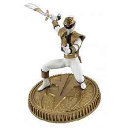POP CULTURE SHOCK COLLECTIBLES MIGHTY MORPHIN POWER RANGERS - WHITE RANGER 23CM STATUE FIGURE