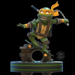 TEENAGE MUTANT NINJA TURTLES Q-FIG DIORAMA MICHELANGELO 13 CM STATUE FIGURE QUANTUM MECHANIX