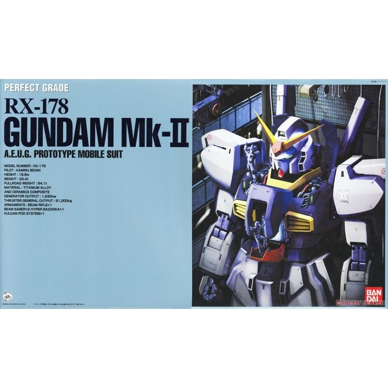BANDAI PERFECT GRADE PG RX-178 MARK II AEUG WHITE GUNDAM 1/60 MODEL KIT